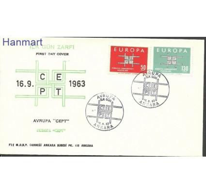 Znaczek Turcja 1963 Mi 1888-1889 FDC