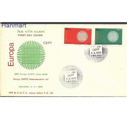 Znaczek Turcja 1970 Mi 2179-2180 FDC