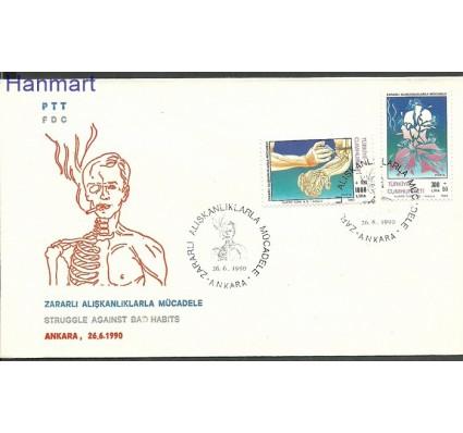 Znaczek Turcja 1990 Mi 2898-2899 FDC