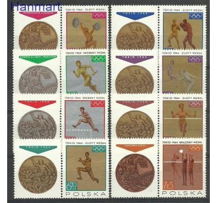 Znaczek Polska 1965 Mi zf 1623-1630 Fi zf 1472-1479Pw2 Czyste **