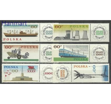 Znaczek Polska 1966 Mi zf 1674-1679 Fi zf 1526-1531 Czyste **