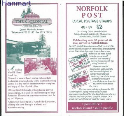 Znaczek Norfolk 1999 Mi mh683-684 Czyste **